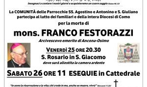 Necrologio mons. Franco Festorazzi